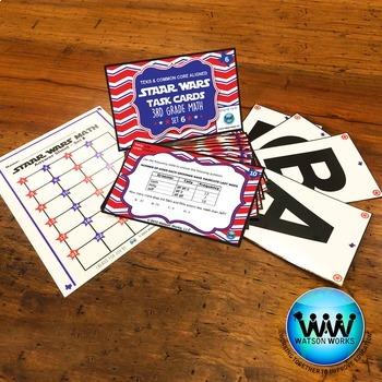 BUNDLE - STAR READY 3rd Grade Math Task Cards ~ SETS 4-6 {TEKS-aligned}