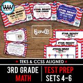 SETS 4-6 BUNDLE - STAR READY 3rd Grade Math Task Cards -  STAAR / TEKS-aligned