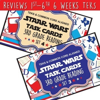 BUNDLE - STAR READY 3rd Grade Reading Task Cards ~ SETS 1-6 {TEKS-aligned}