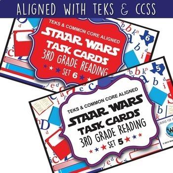 SETS 1-6 BUNDLE - STAR READY 3rd Grade Reading Task Cards  {TEKS-aligned}