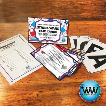SETS 4-6 BUNDLE - STAR READY 3rd Grade Reading Task Cards {TEKS-aligned}