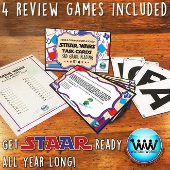 SETS 4-6 BUNDLE - STAAR READY 3rd Grade Reading Task Cards {TEKS-aligned}