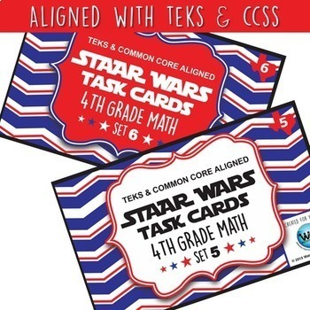 SETS 1-6 BUNDLE - STAAR READY 4th Grade Math Task Cards {TEKS-aligned}