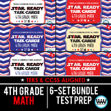 SETS 1-6 BUNDLE - STAR READY 4th Grade Math Task Cards - STAAR / TEKS-aligned