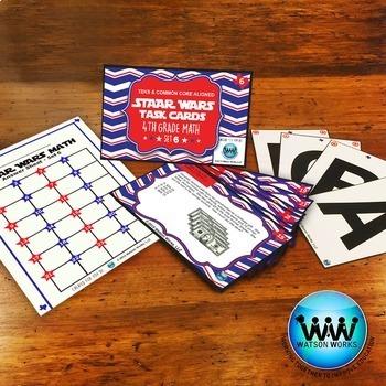 BUNDLE - STAR READY 4th Grade Math Task Cards ~ SETS 4-6 {TEKS-aligned}