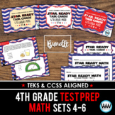 BUNDLE - STAR READY 4th Grade Math Task Cards ~ SETS 4-6 {TEKS-aligned}