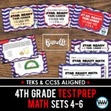 SETS 4-6 BUNDLE - STAR READY 4th Grade Math Task Cards - STAAR / TEKS-aligned