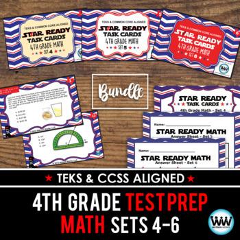 BUNDLE - STAAR WARS 4th Grade Math Task Cards ~ SETS 4-6