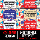 SETS 1-6 BUNDLE - STAR READY 4th Grade Reading Task Cards ~  {TEKS-aligned}