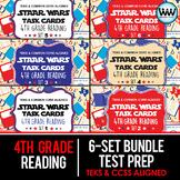 SETS 1-6 BUNDLE 4th Grade STAAR Reading Review Task Cards New ELAR TEKS