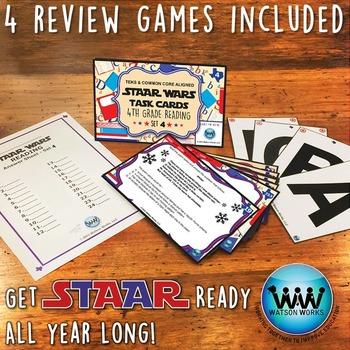 BUNDLE - STAAR WARS 4th Grade Reading Task Cards ~ SETS 4-6