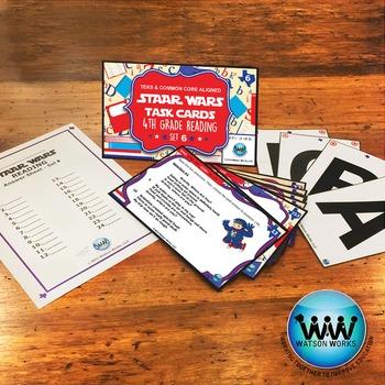 SETS 4-6 BUNDLE - STAAR READY 4th Grade Reading Task Cards {TEKS-aligned}