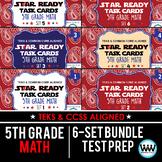 SETS 1-6 BUNDLE - STAR READY 5th Grade Math Task Cards - STAAR / TEKS-aligned