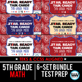 SETS 1-6 BUNDLE - STAR READY 5th Grade Math Task Cards - STAAR / TEKS-aligned