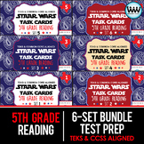 SETS 1-6 BUNDLE 5th Grade STAAR Reading Review Task Cards New ELAR TEKS