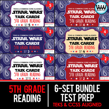 GROWING BUNDLE - STAAR WARS 5th Grade Reading Task Cards ~