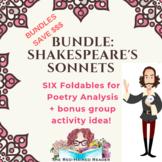 BUNDLE: Shakespeare's sonnet 18 29 73 116 130 147 foldable