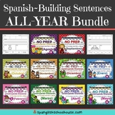 Spanish Sentence Building All-Year Bundle~Construyendo Oraciones {Agosto-Mayo}
