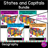 BUNDLE! United States and Capitals Worksheets and Activities