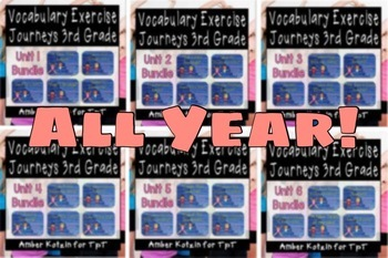 ALL YEAR: Vocabulary Exercise Review Journeys 3rd Grade