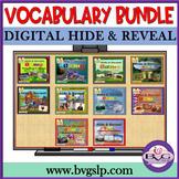 GROWING BUNDLE Vocabulary Hide and Reveal NO PREP NO PRINT