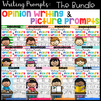 GROWING BUNDLE Writing Prompts: Opinion Writing & Picture Prompts