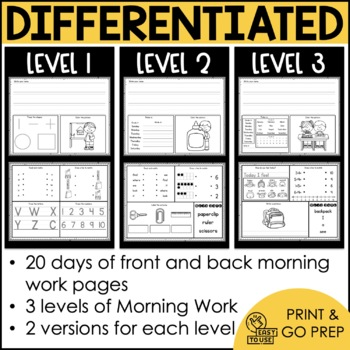 Intermediate Special Education Morning Work: THE YEARLONG BUNDLE {3 Levels!}