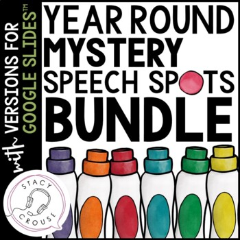 Mystery Speech Spots for Articulation Practice Bundle