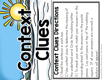 BUNDLE of Seasonal Self-Checking ELA Puzzles