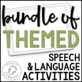 BUNDLE of Themed Speech and Language Interactive PDFs Teletherapy