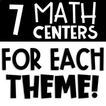 Seasonal Literacy Centers & Math Centers Bundle | Back to School Centers & MORE!