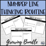 GROWING Bundle of Math Warm-Up Number Line Critical Thinki