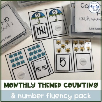 GROWING Bundle of Monthly Themed Counting/ Number Fluency Pack