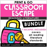 Print & Go Escape Room BUNDLE - Reading Literature Standards