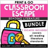 GROWING Print & Go Classroom Escape Room BUNDLE - Reading