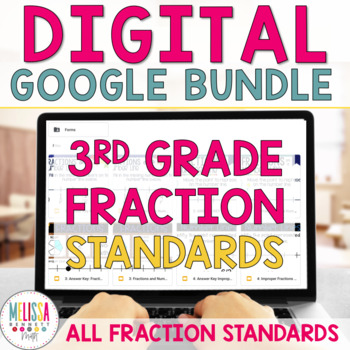 GROWING MEGA BUNDLE 3rd Grade Fractions for Google Classroom by I HEART 4th grade