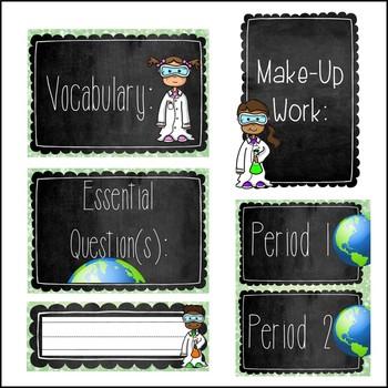 GROWING Science Classroom Decor