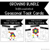 GROWING Seasonal  Pattern Block Task Cards