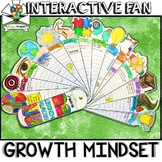Growth Mindset Activity, Reflection, Setting Goals, Interactive Fan