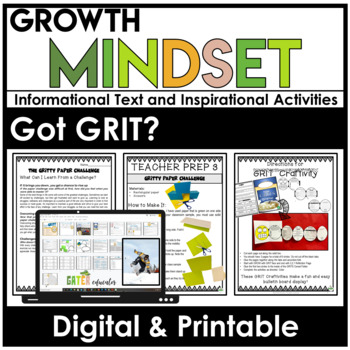 GROWTH MINDSET Activities | GRIT