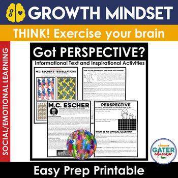 GROWTH MINDSET Activities | PERSPECTIVE | MC Escher | Optical Illusions