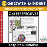 GROWTH MINDSET Activities   PERSPECTIVE   MC Escher   Opti