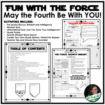 GROWTH MINDSET Activities | May the Fourth Be With You | Star Wars Version