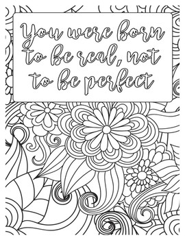 Growth Mindset Coloring Bundle 15 Pages Inspirational Coloring Mindfulness