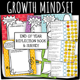 GROWTH MINDSET: Digital Reflection Book and Survey with Emojis!