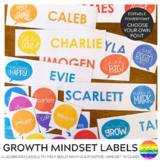 GROWTH MINDSET Editable Classroom Labels