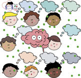 GROWTH MINDSET HUGE CLIPART PACK BOYS - BRAIN - BW/COLOUR