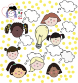 GROWTH MINDSET HUGE CLIPART PACK BW/COLOUR- girls set - 70