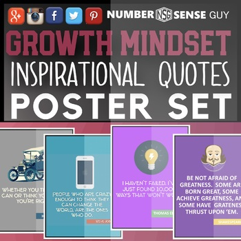 GROWTH MINDSET INSPIRATIONAL QUOTE POSTERS