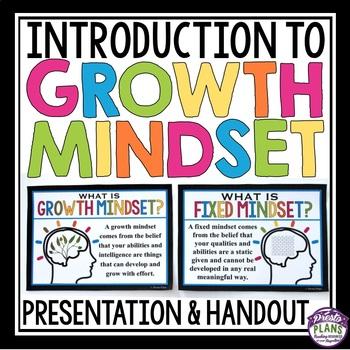 GROWTH MINDSET INTRODUCTION: PRESENTATION & STUDENT HANDOUT